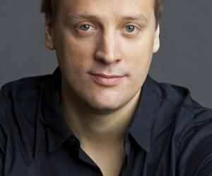 man in dark shirt